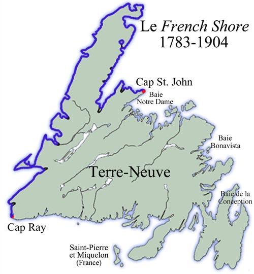 Carte du French Shore : 1783-1904