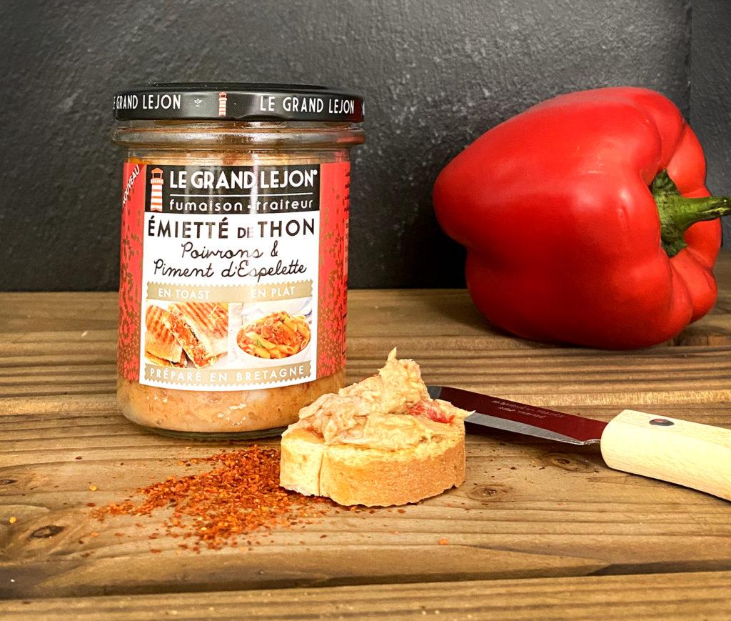 L'émiettés de thon, poivrons et piment d'Espelette Le Grand Léjon